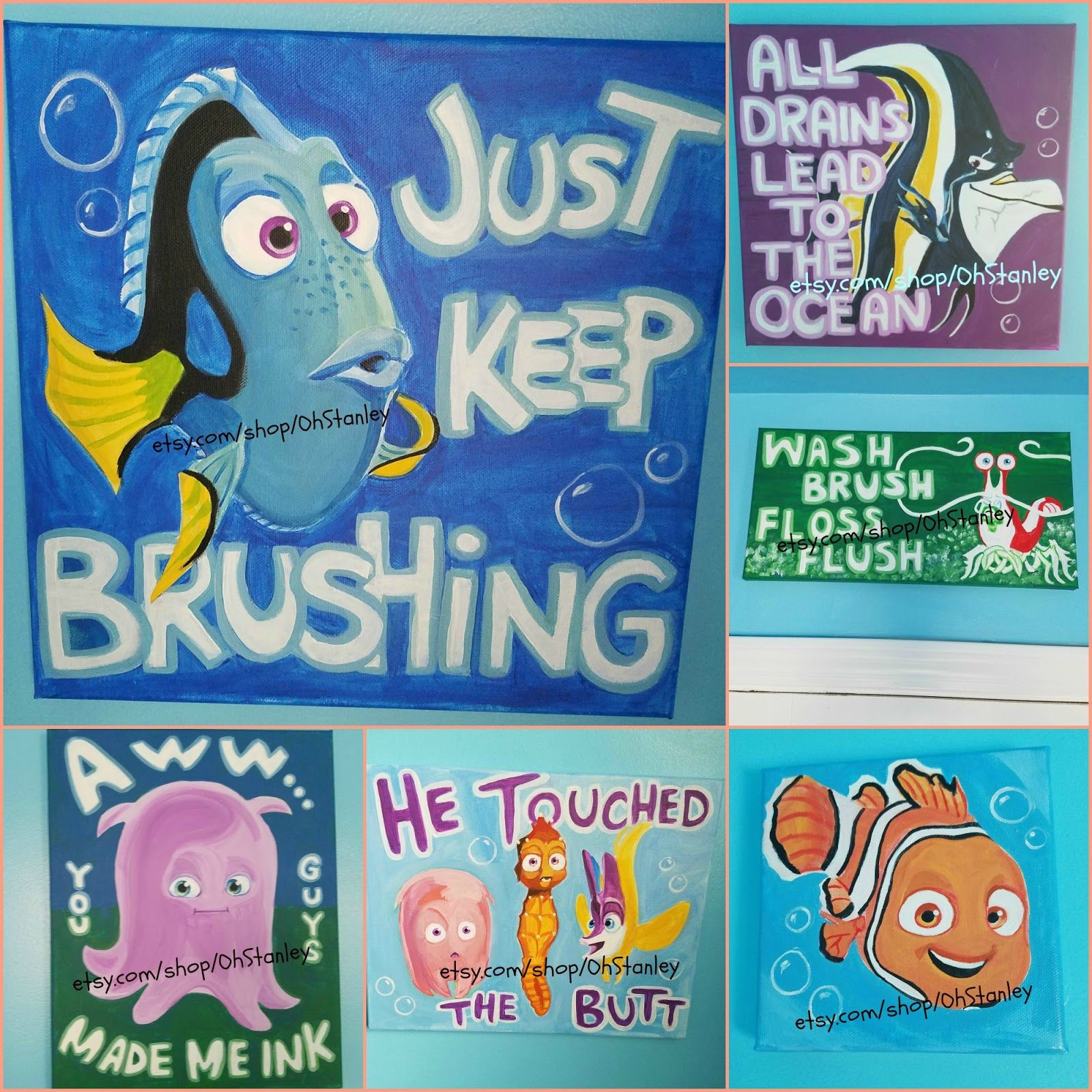 Artwork for Nemo themed room! Product link included! | Room Themes ...