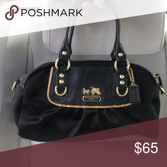 Coach Handbag Satin Leather Used For Holidays And Special Occasions Still A Great Size To Carry Necessities Bags Mini