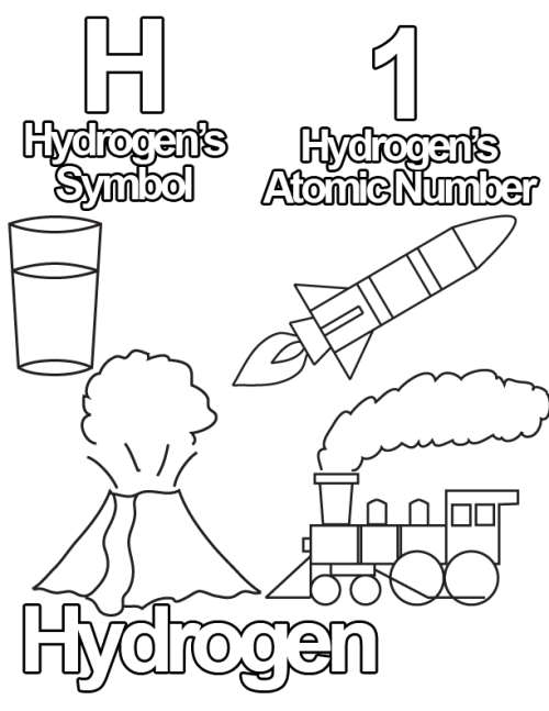 Free Coloring Pages from The Periodic Table of Elementary