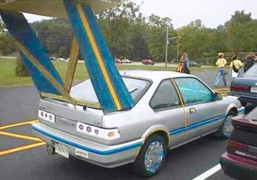 You Want A Stupid Looking Car Just Add A Fin Like This One Car Mods Car Custom Cars