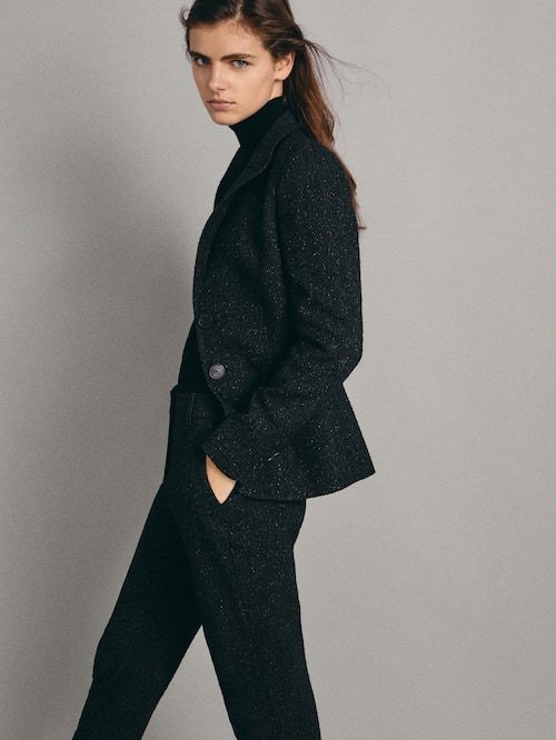 23e11ffb0a Formal trousers - Trousers - COLLECTION - WOMEN - Massimo Dutti - United  Kingdom