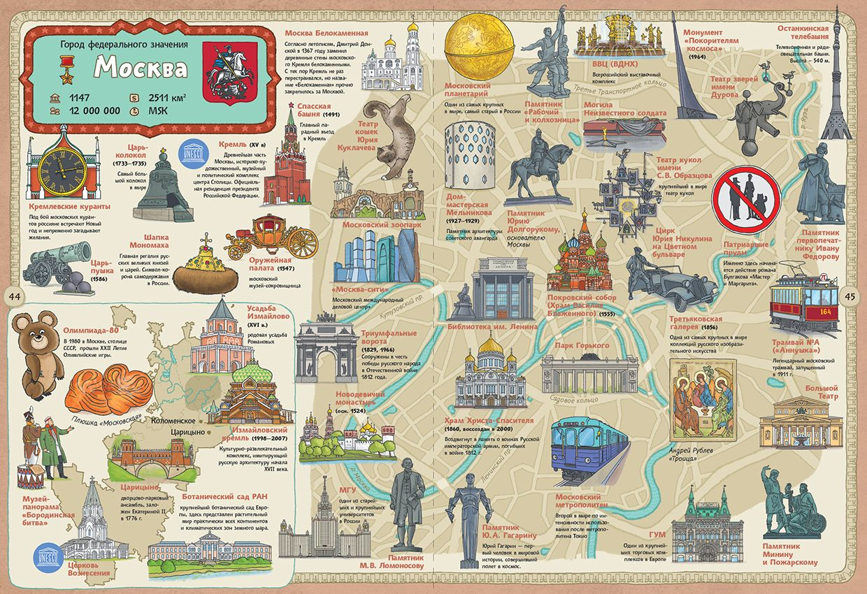 карта и картинками мест один