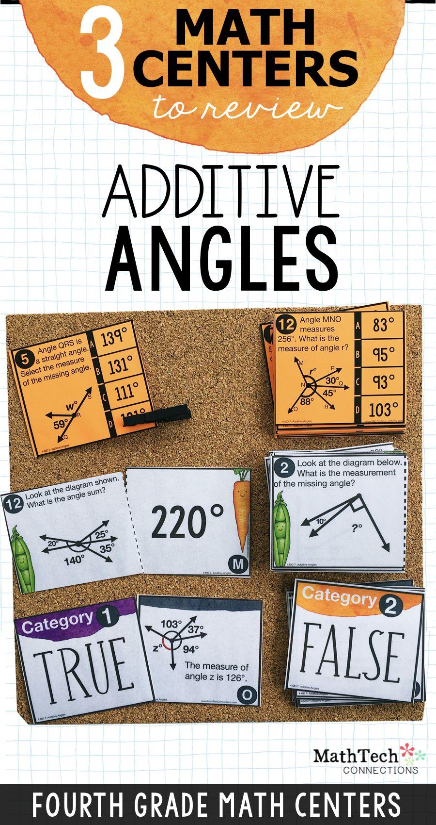 4th - Additive Angles Math Centers - Math Games   Math Tech