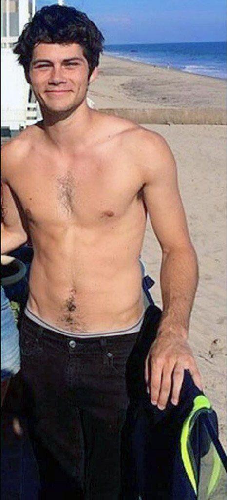 Dylan OBrien shirtless