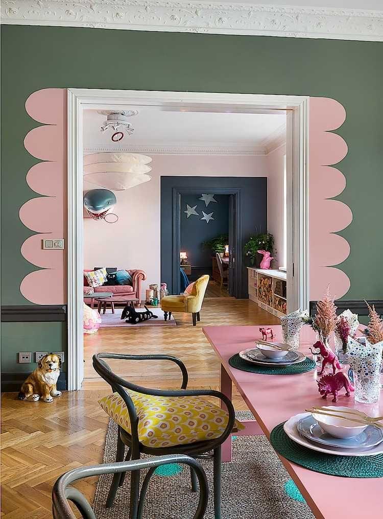 Idée déco peinture intérieur maison u2013les murs bicolores respirent l