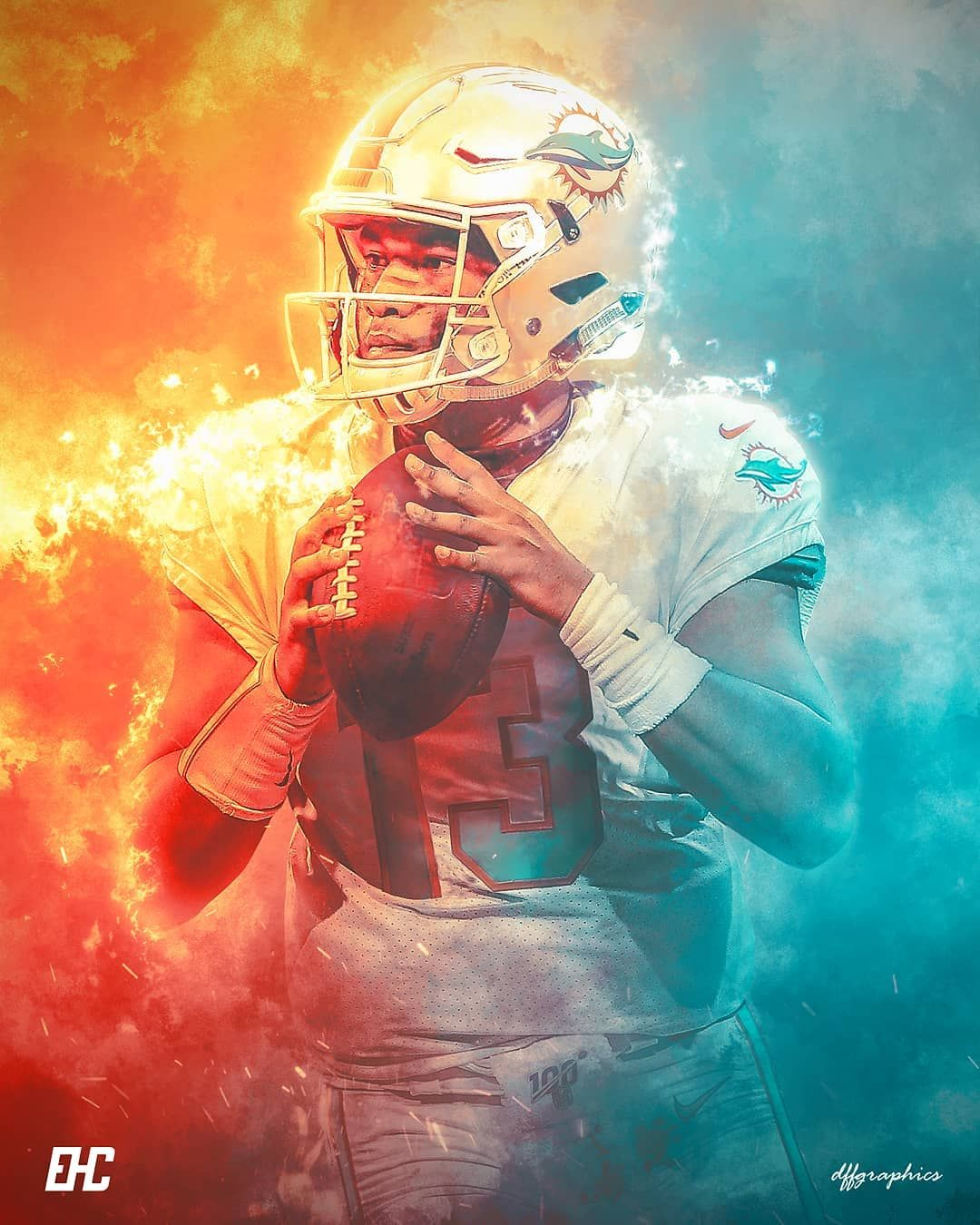 Will Tua Tagovailoa End Up On The Miami Dolphins Next Year Collab With The Homie Ehcartwork Nfl Miami Dolphins Wallpaper Miami Dolphins Dolphins Football