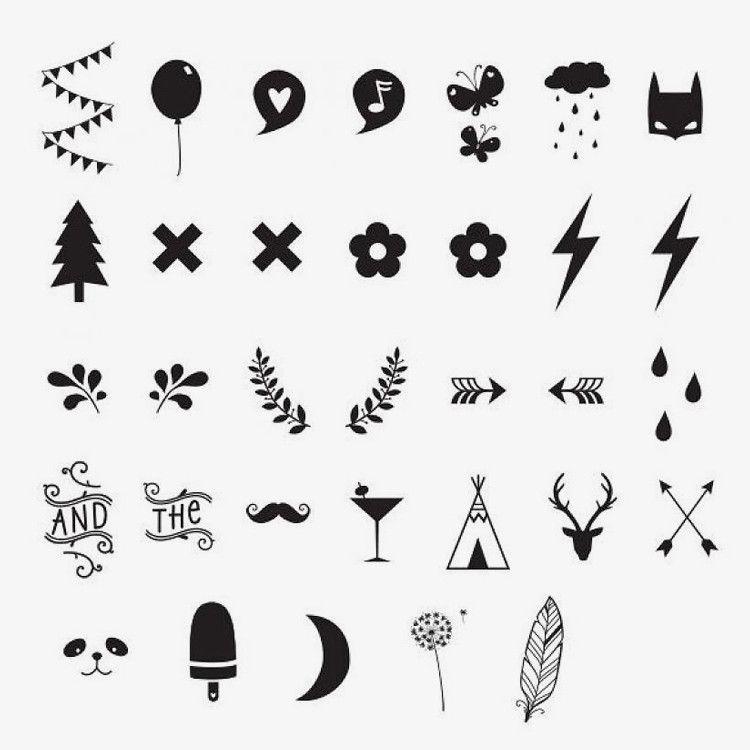 A Little Lovely Company / DIY Symbol Set voor Lightbox