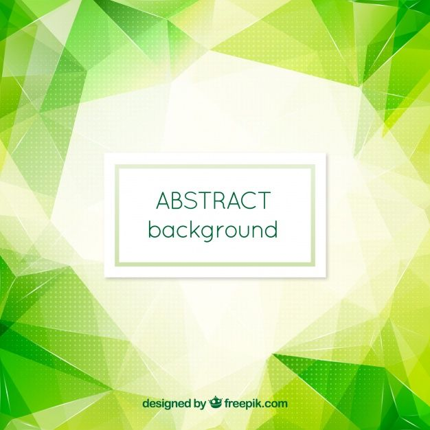 Download Abstract Green Polygonal Background For Free In 2020