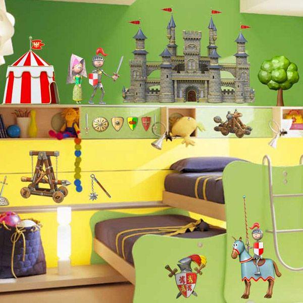 Adesivi per bambini: Kit Medieval. Adesivi murali bambini a kit castillos medievales caballeros. #adesivimurali #decorazione #modelli #mosaico #mediaval #castillo #StickersMurali