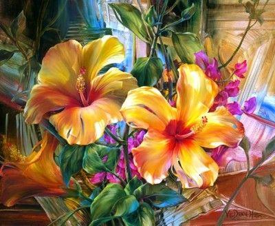 Cuadros Modernos Al Oleo Con Espatula Flores Pintadas Como Pintar Flores Flores Abstractas