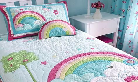Rainbow Kids Bedding by Freckles Girls new