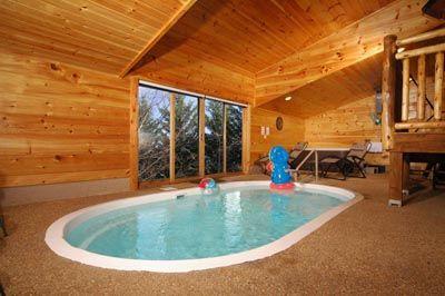 Poolin around 1 bedroom cabin with pool inside pigeon for Poolin around cabin gatlinburg tn