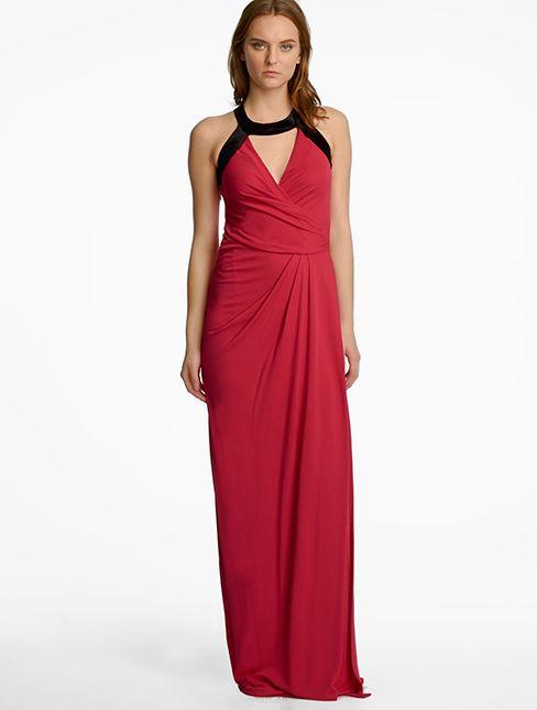 eda2fbebfab Halston Heritage - Draped Jersey Gown | Chic After Dark | Dresses ...