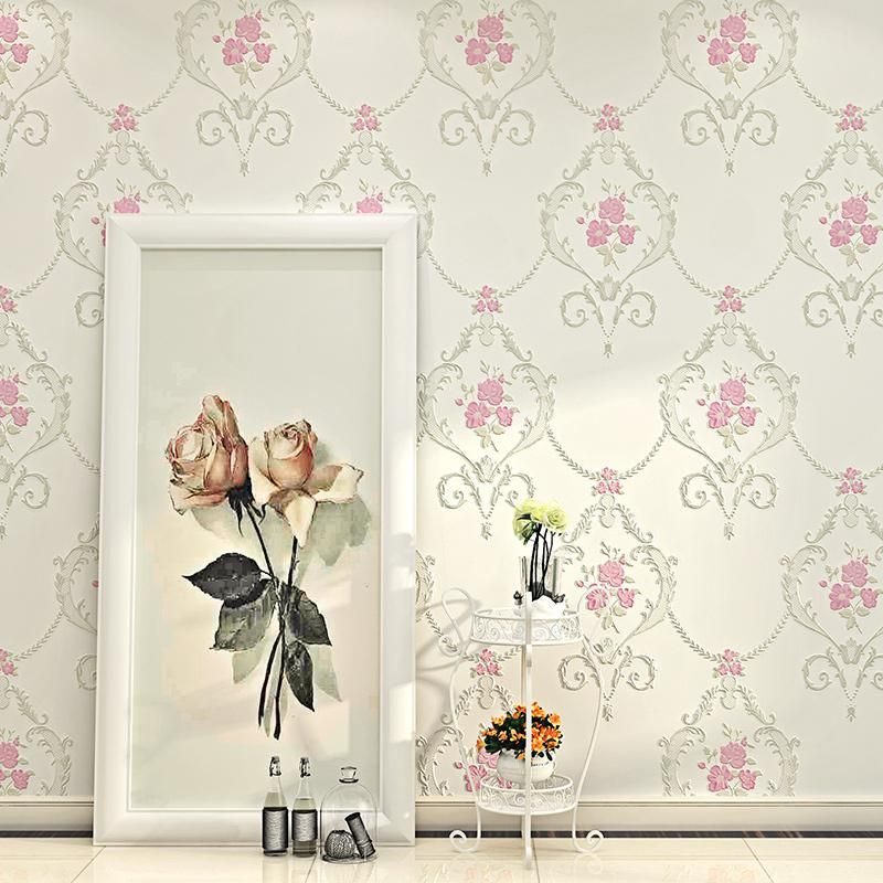 Wallpaper 3d Embossed Non Woven Wallpapers Luxury Pastoral Floral Wall Paper Mural Design Us 34 60 In 2020 Wallpaper Design For Bedroom Mural Design Floral Wall