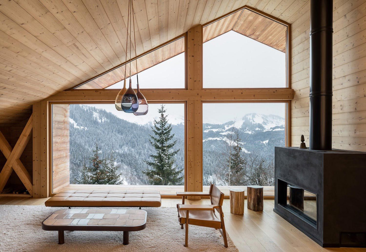 Stunning mountain house built in a valley which offers very little