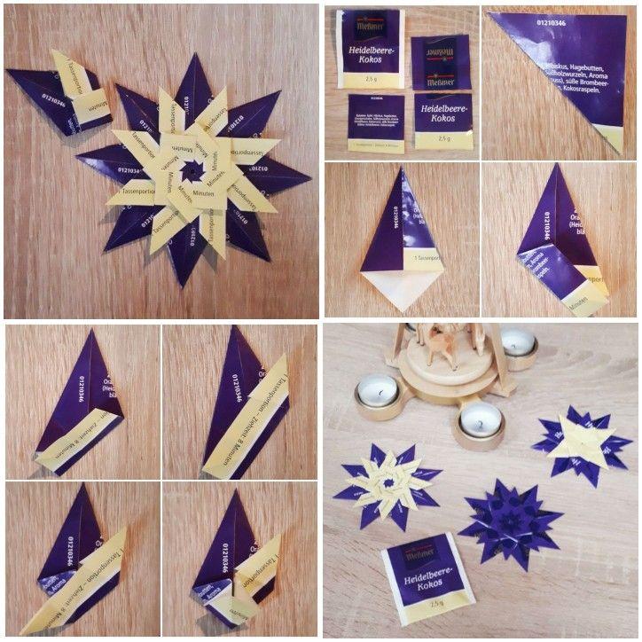 Anleitung für Teebeutel-Sterne #origamianleitungen