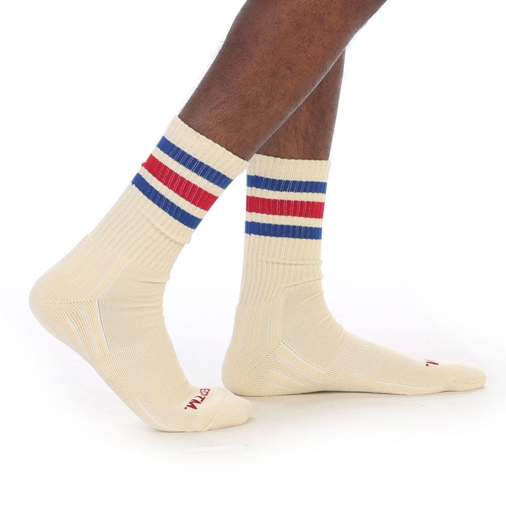 VINTAGE WHITE-70's RUNNING SOCKS