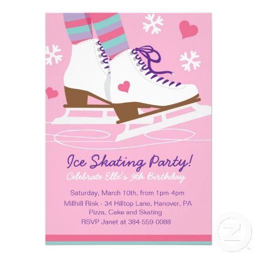 free printable ice skating party – Skating Party Invites