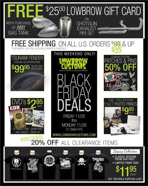 Lowbrow S Black Friday Deals Black Friday Black Friday Deals Black