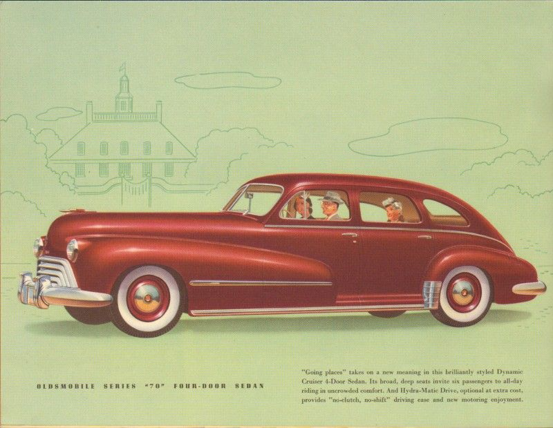 Oldsmobile Sales Catalog Featuring The Series Four Door
