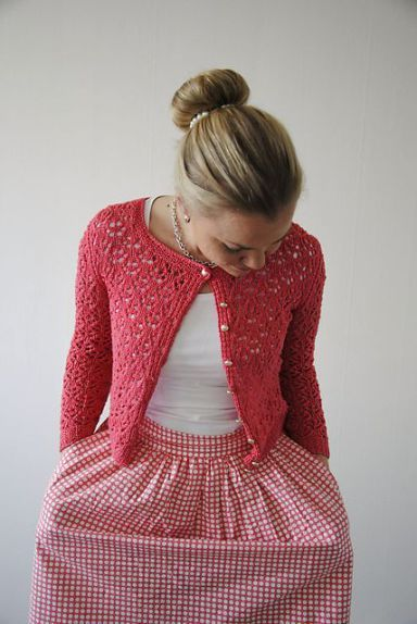 Cropped Cardigan Knitting Patterns Crochetknit Pinterest