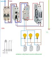 Croquis Con Contactor Mas Reloj Horario Esquemas Electricos Esquemas Electricos Instalacion Electrica Electricidad