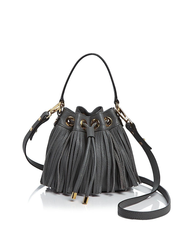 MILLY Essex Fringe Mini Cross-Body Bucket Bag