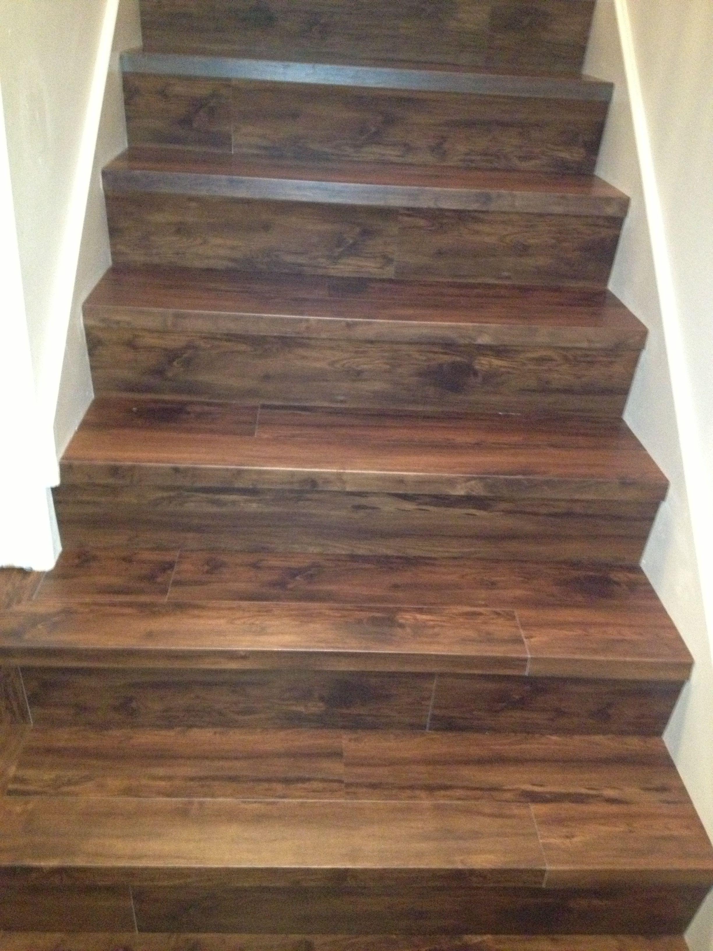 Custom installation with Adura on the steps adura lvt