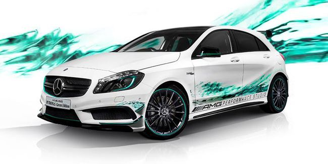 Mercedes-A45-AMG-Petronas-Green-Edition