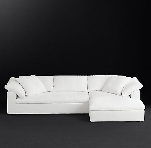 Cloud Track Arm Fabric Sectional Rh Modern Sectional Sofa Slipcovers Modern Sofa Sectional Chaise Sofa