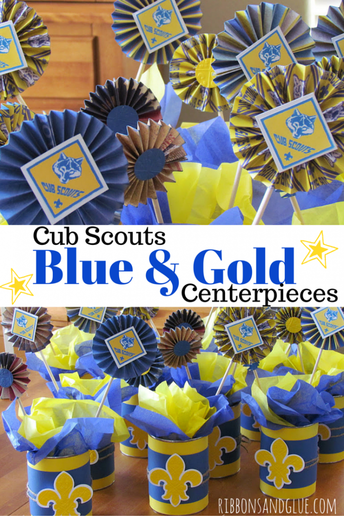 Cub Scouts Blue And Gold Banquet Centerpieces Ribbons