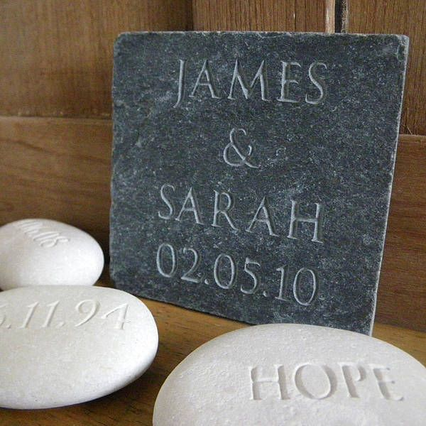Personalised Wedding Gift Slate