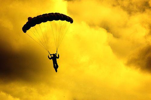 Skydiving Skydiving Diving Yellow Sky