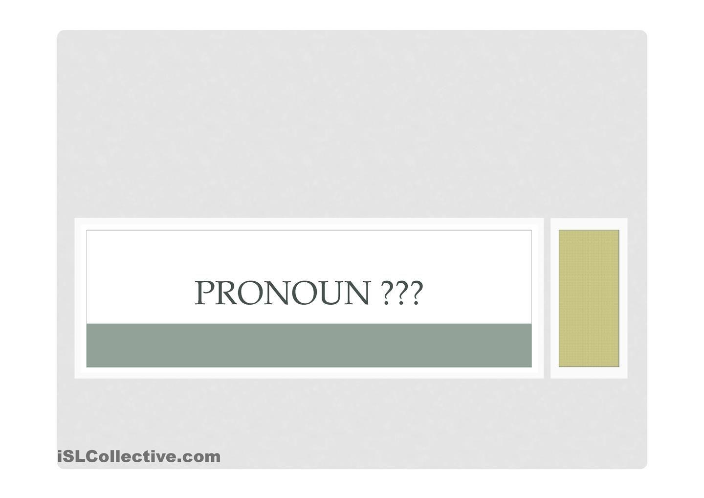 Pronoun Game To Review Pronouns