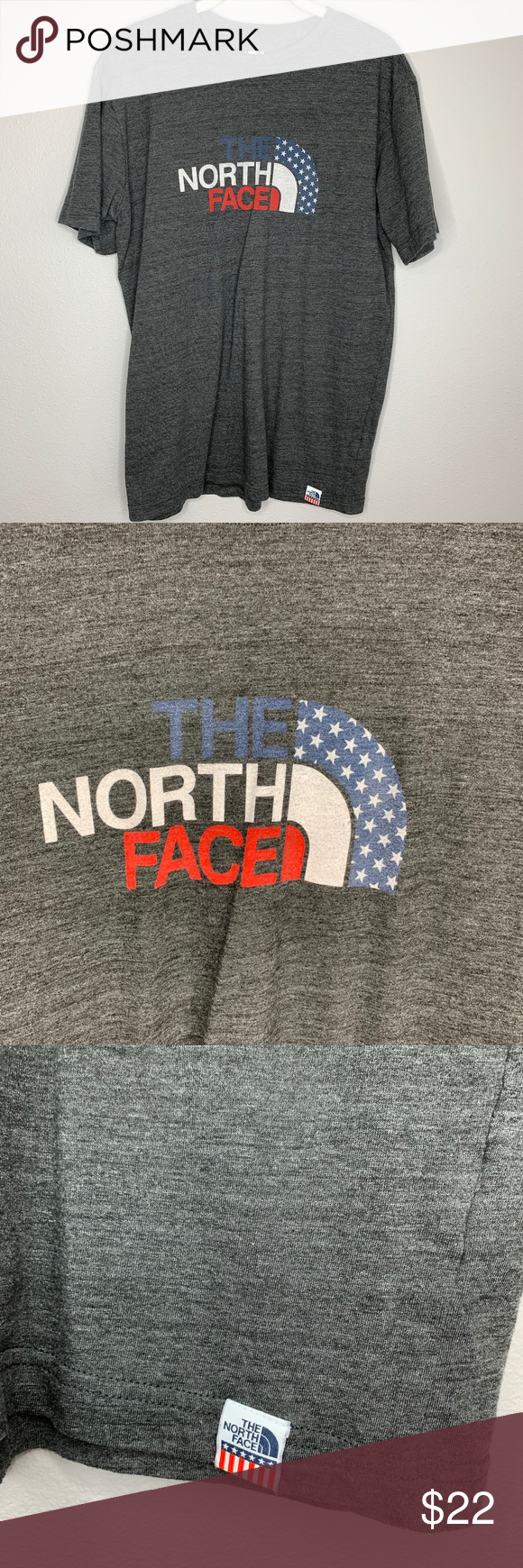 9fae7694014 Advertisement; THE NORTH FACE Red/white/blue T-shirt THE NORTH FACE Red/
