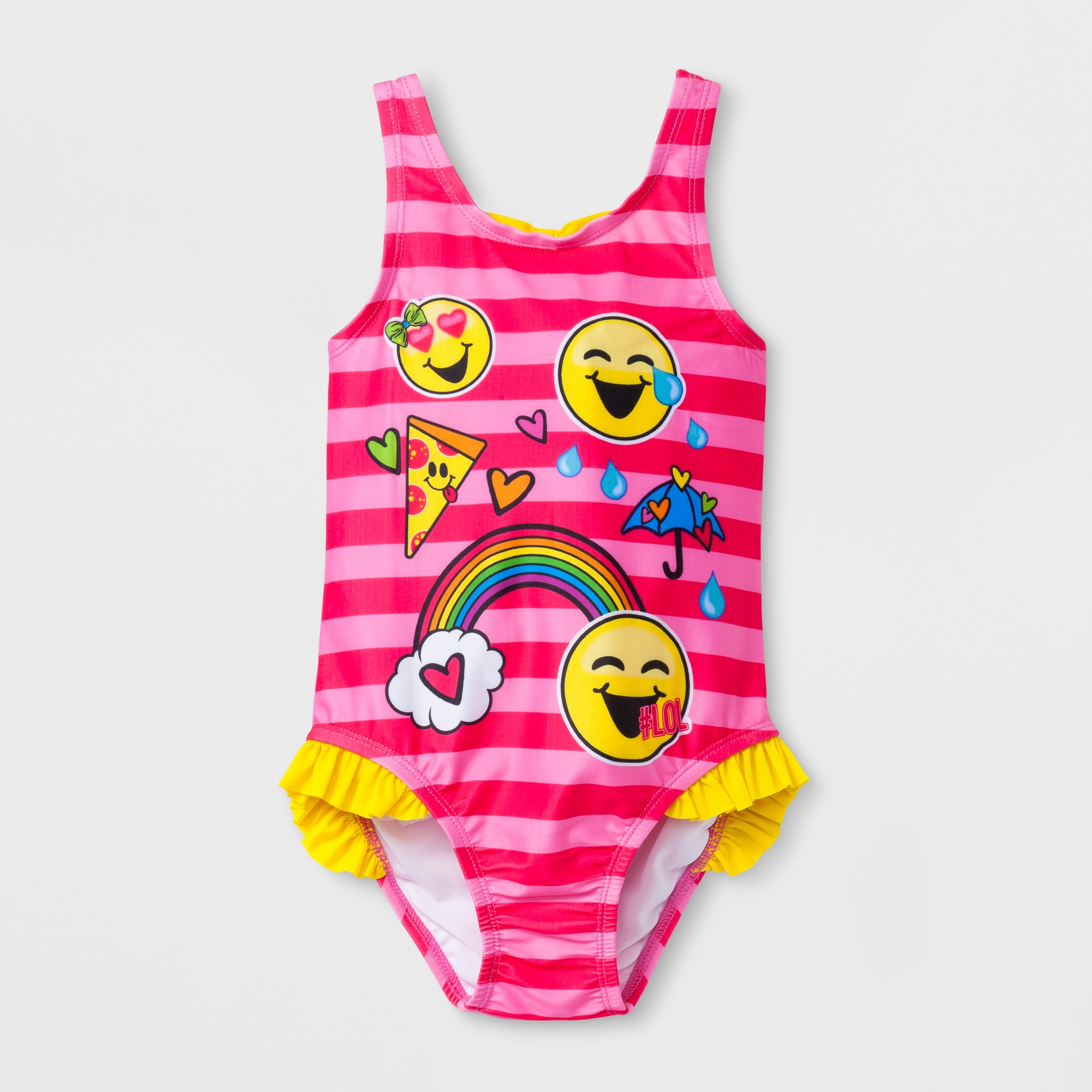b59cbb34a127a Toddler Girls' EmojiNation® One Piece Swimsuit - Pink 3T | Products ...