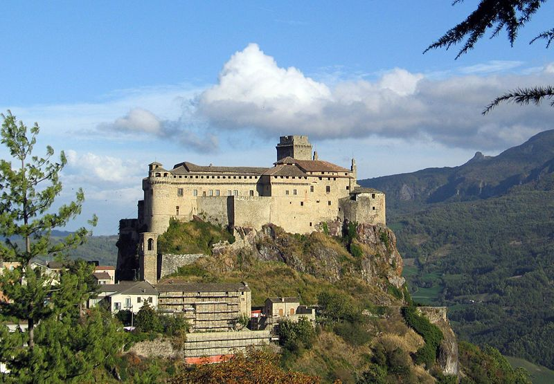 Landi castle in Italy. Most haunted places