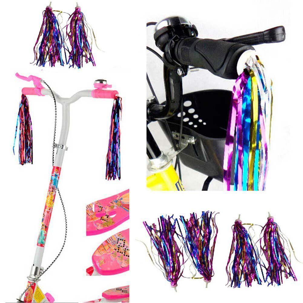 Bike Handlebar Streamers Bicycle Grips Tassels Ribbons Kids Scooter Accessories