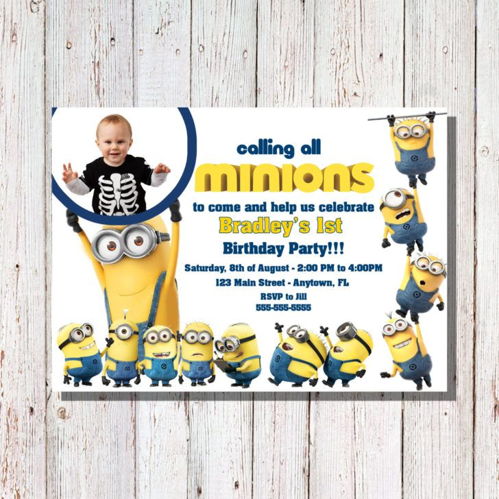 Birthday Calling All Minions Invitation Sample Party Custom Despicable