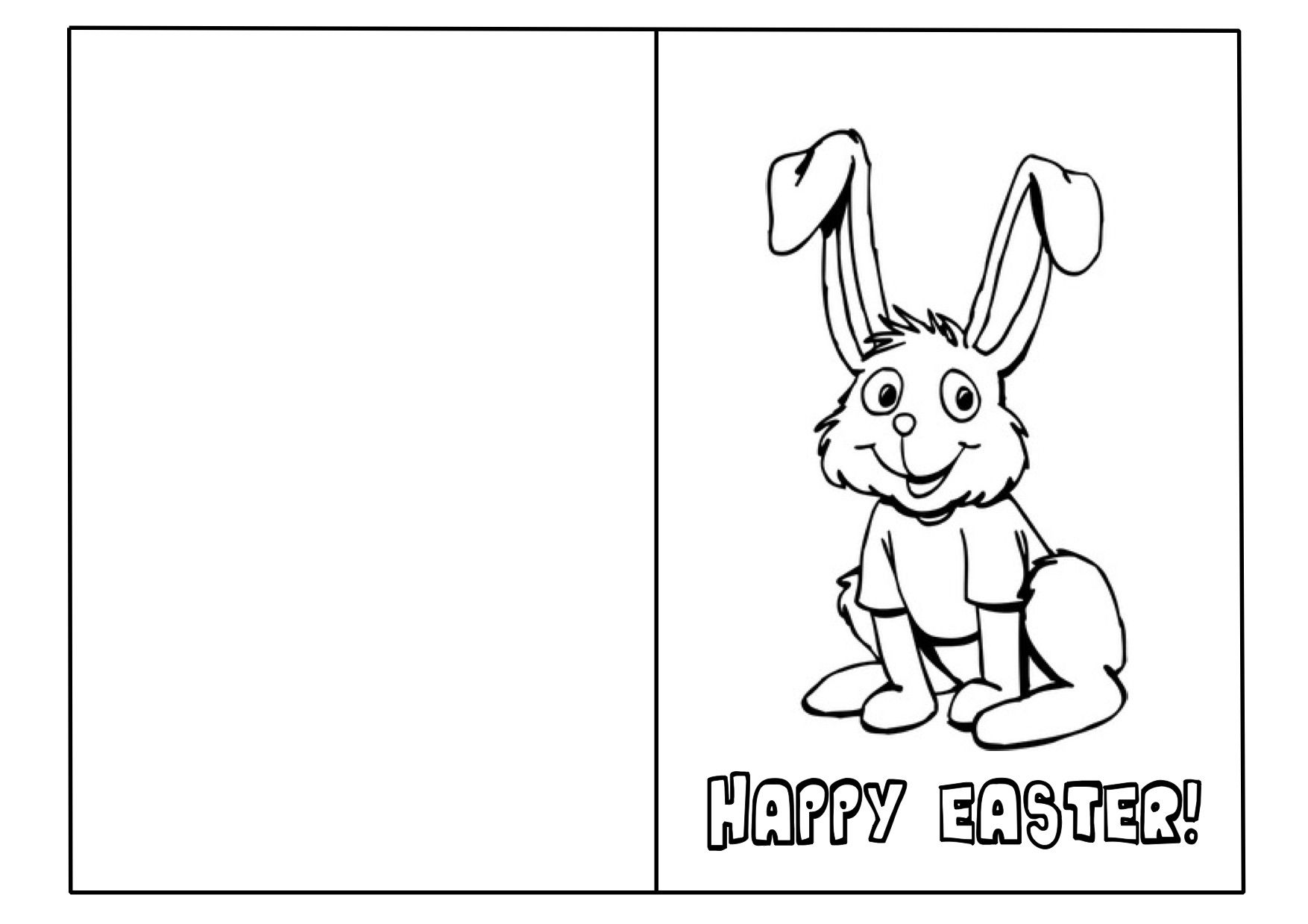 Easter Card Template Ks2 1