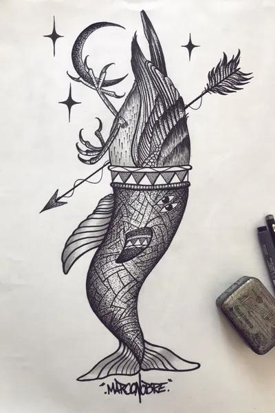 Tattoo uploaded by Kaivalya Chakraborty | When client wants a Cancer logo but u have Aztecs in mind.... #tattoosketch #sketch_daily #instainked #artist #artistofinstagrams #aztec #maya #apocalypse #cancerzodiac #cancer #art #drawing #drawings #photooftheday #happy #darktrash #blackworktattoo #blacktattoo | 1078672 | Tattoodo