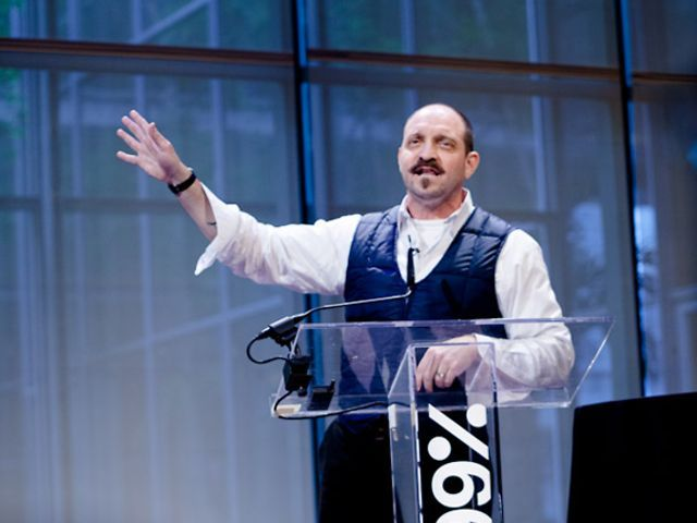 """James Victore: Your Work Is A Gift by 99%. """"When we think of our work as a gift, it radically changes what we create,"""" says rogue designer James Victore in this powerful (and powerfully funny) 99% Conference talk."""