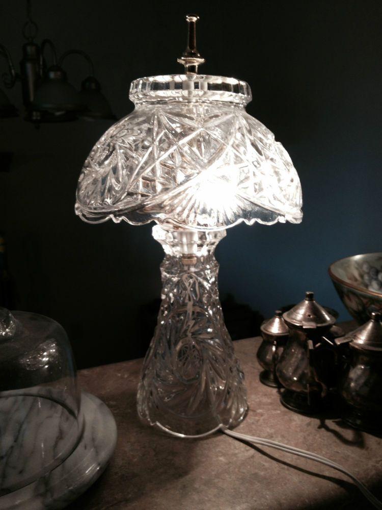 Antique vintage lead crystal lamp | Vintage Antiques ...