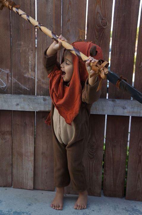 Homemade Ewok costume and one happy three-year-old. & Homemade Ewok costume and one happy three-year-old.   Halloween ...