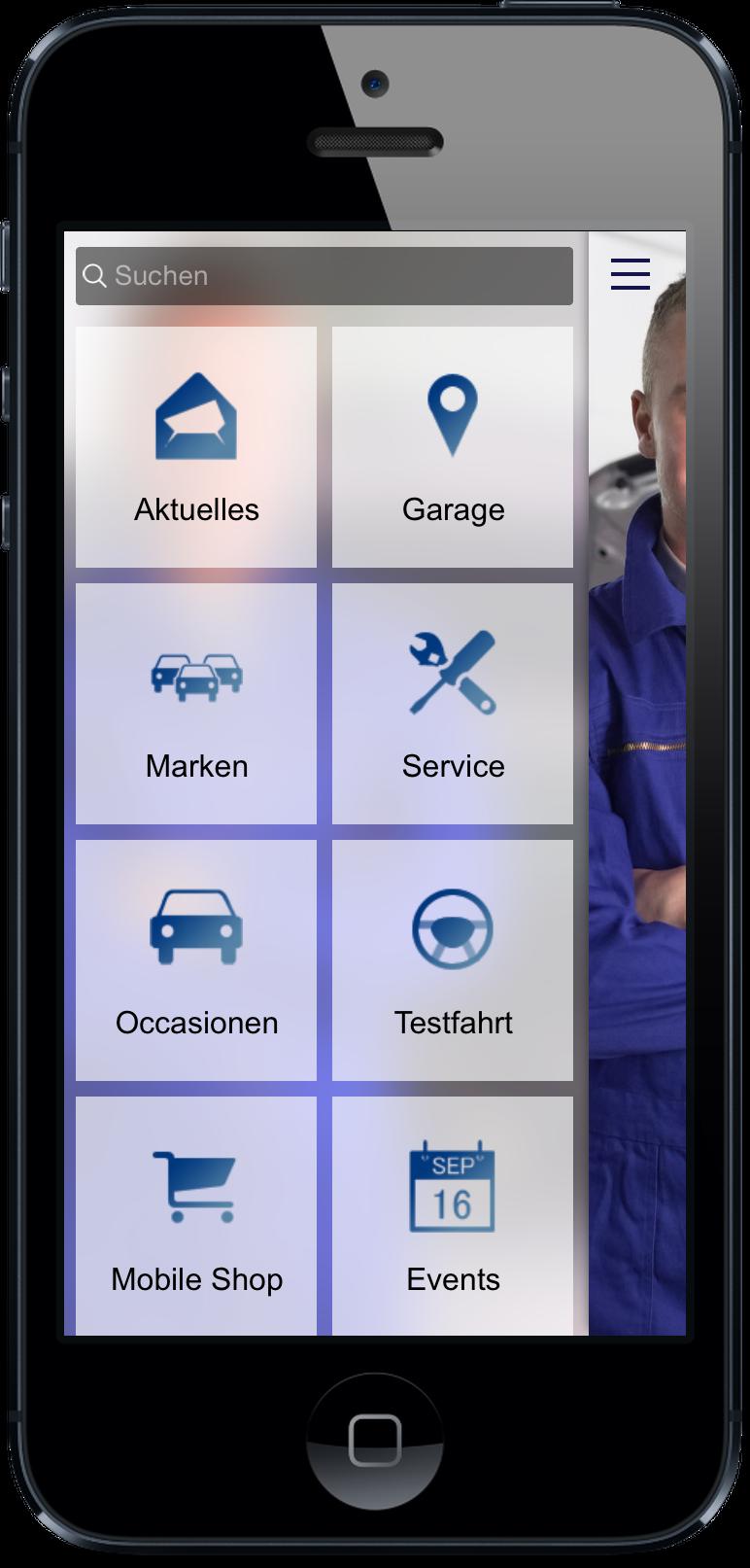 Ihre eigene Auto App - Occassionen, Neuwagen, Aktionen und Events. App jetzt live testen: http://nextvisionapps.com/de/online-demo-auto