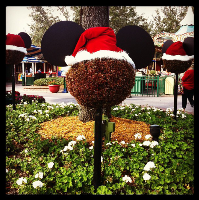 Santa Mickey decorations at Disney! | #disneychristmas #disneyxmas #disney #christmas #holiday #xmas