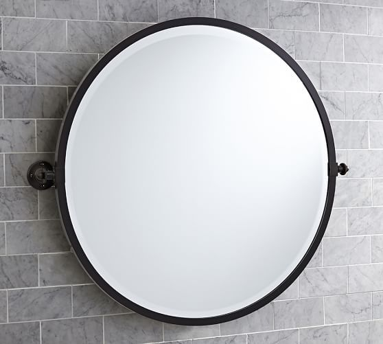Kensington Round Pivot Mirror Round Mirror Bathroom Oval Mirror