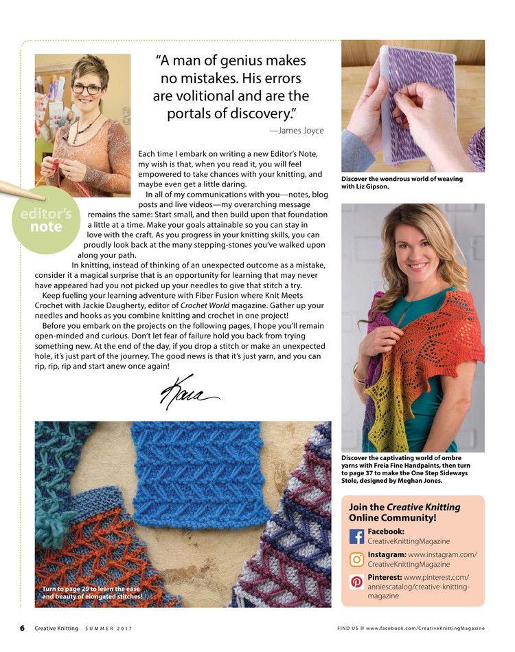 Creative Knitting Summer 2017 - 轻描淡写 - 轻描淡写 | knitting ...