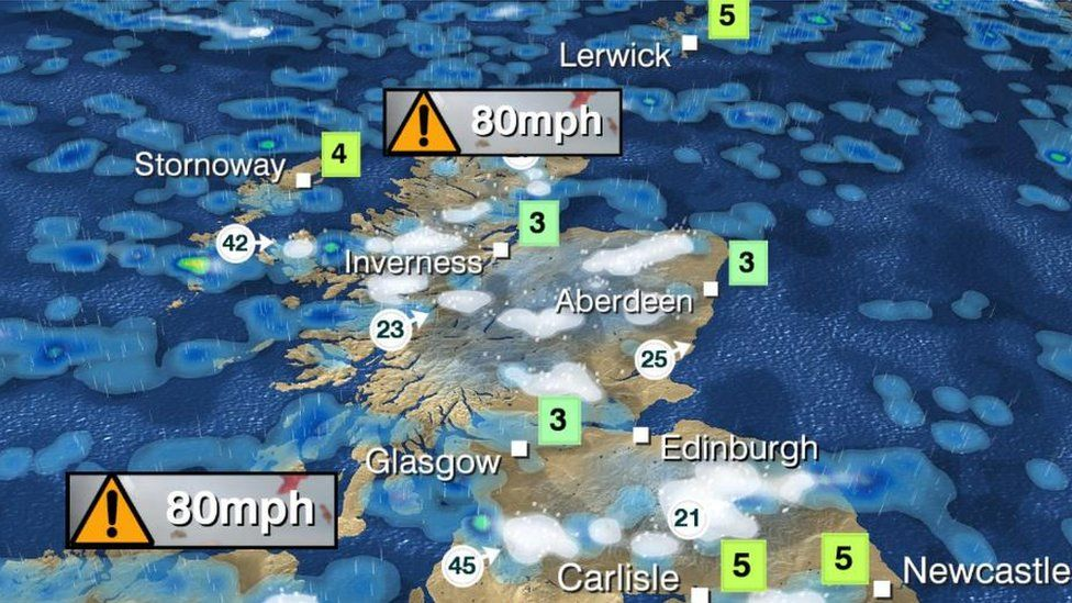 The winter  weather bomb  in maps   Weather   Pinterest   Weather     BBC Along with the wind and rain comes the danger of flooding