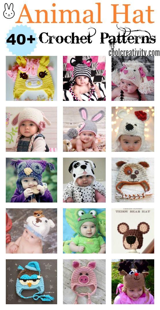 40 Crochet Animal Hat With Patterns Crochet Animal Hats Crochet Hats Crochet Kids Hats
